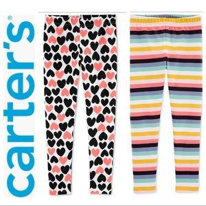 BRAND NEW (2) CARTER's Little & Big Girls LEGGINGS